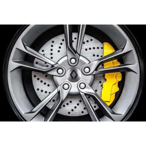 """Tapa  57 mm. Buje  Rueda  """"Renault"""" Color Plata  [2]"""