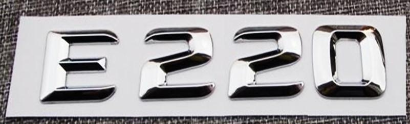"""Mercedes  Logo  Trasero  """"E220""""  Cromado"""
