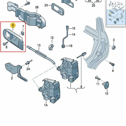 """Manilla  """"Izquierda""""  (Golf IV - Jetta - Passat)   Apertura Interior de Volkswagen  [3]"""