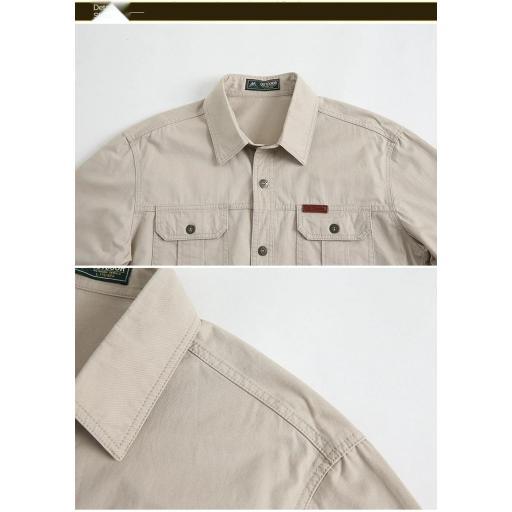 Camisa  Sport C/Beige  M/L  100% Algodon  Especial:  Caza, Off-Road, Senderismo, Pesca, Etc... [2]