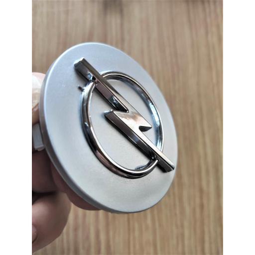 "Tapa  64 mm. Exterior Buje  Rueda  ""Opel"" Color Plata  [3]"