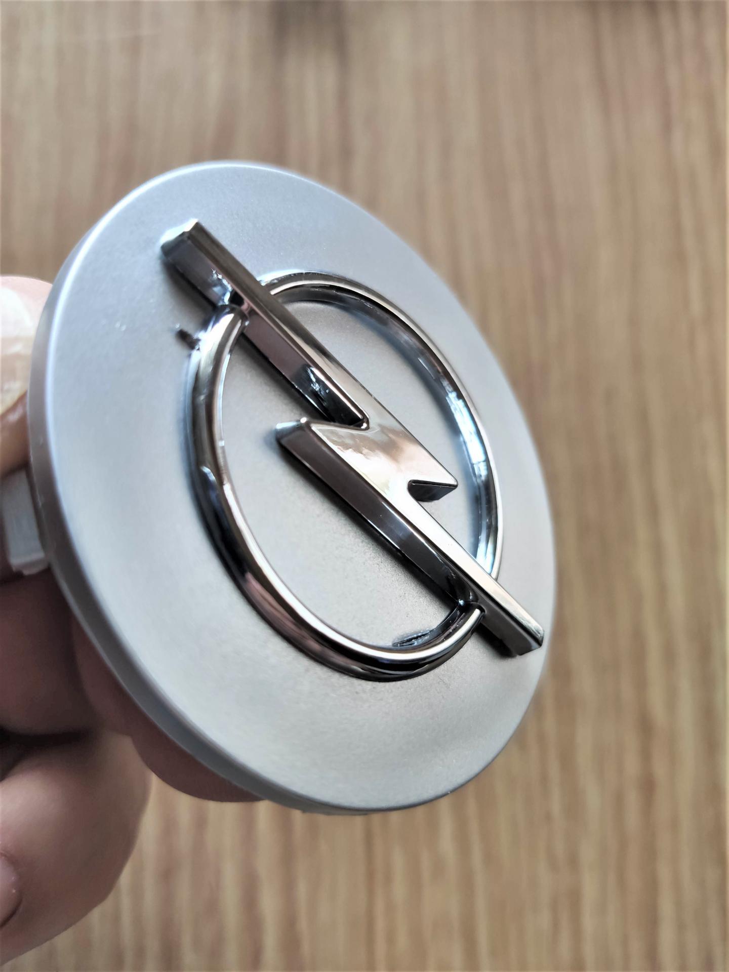"Tapa Buje  59 * 55 mm.  Rueda  ""Opel"" Color Plata"