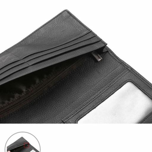 Cartera billetera larga de cuero 100%  Hombre - Mujer [2]