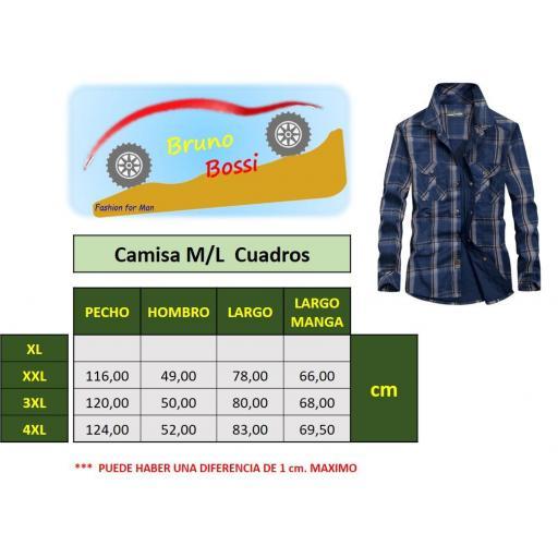 Camisa  Sport,  Cuadros C/Azul Marino  M/L  100% Algodon  Especial:  Caza, Off-Road, Senderismo, Pesca, Etc... [2]