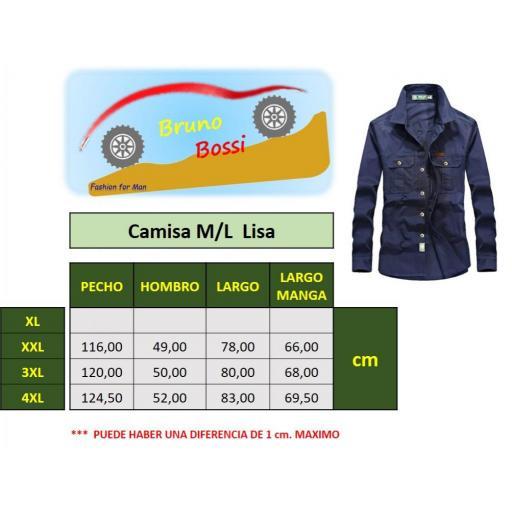 Camisa  Sport C/Azul Marino  M/L  100% Algodon  Especial:  Caza, Off-Road, Senderismo, Pesca, Etc... [3]