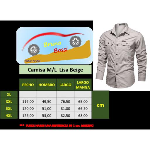 Camisa  Sport C/Beige  M/L  100% Algodon  Especial:  Caza, Off-Road, Senderismo, Pesca, Etc... [3]