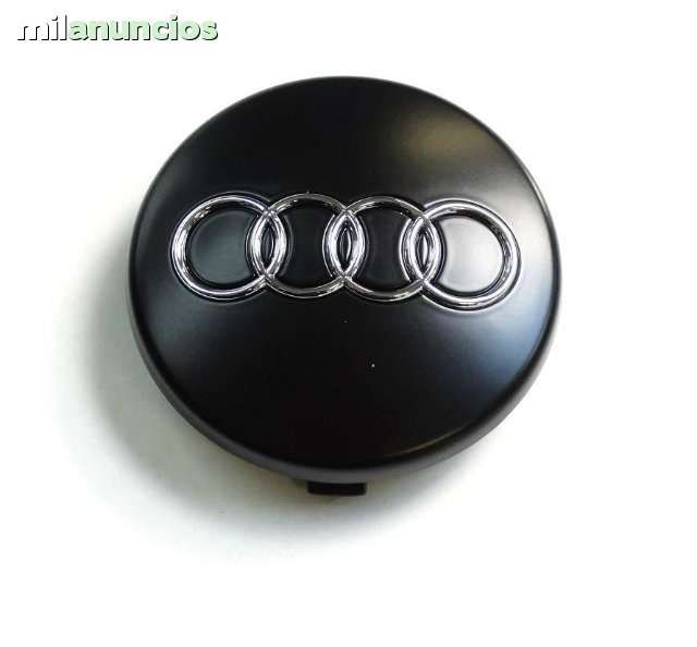"60 x 56 mm. Tapa Buje Rueda  ""Audi""   Color  Negro  Diametro:  Exterior 60mm. Interior 56mm."""