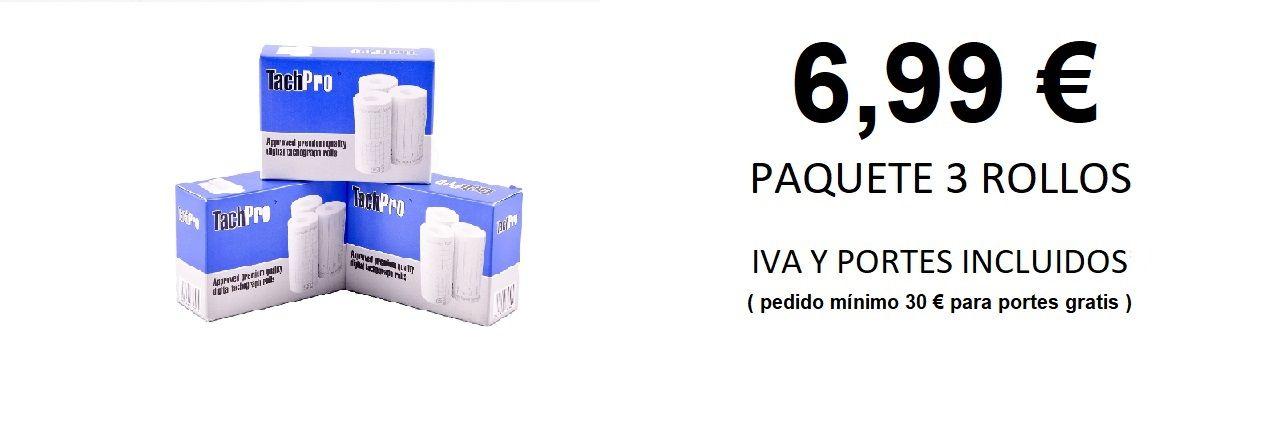 PAQUETE DE 3 ROLLOS DE PAPEL PARA TACÓGRAFO DIGITAL