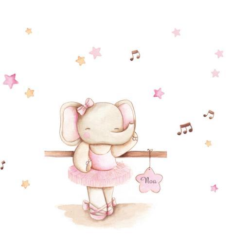 VINILO INFANTIL: Elefantita bailarina [1]