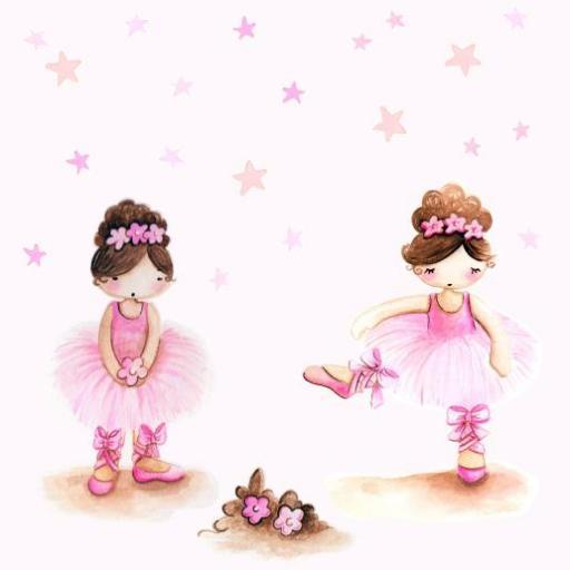 VINILO INFANTIL: Bailarinas y estrellitas [2]