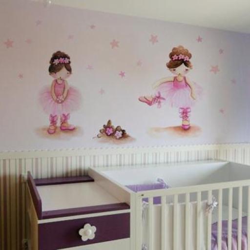 VINILO INFANTIL: Bailarinas y estrellitas [0]