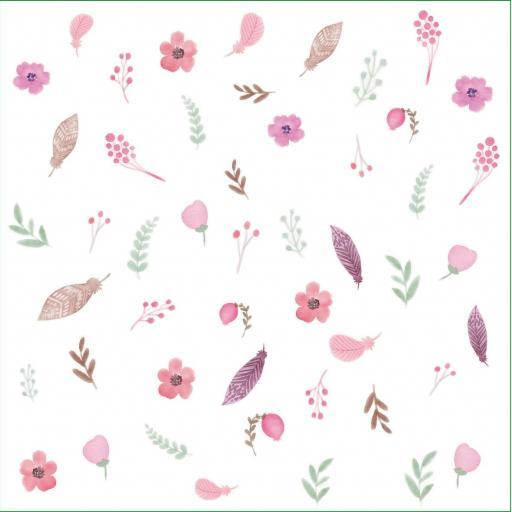 VINILO INFANTIL: flores y hojas estilo boho [1]