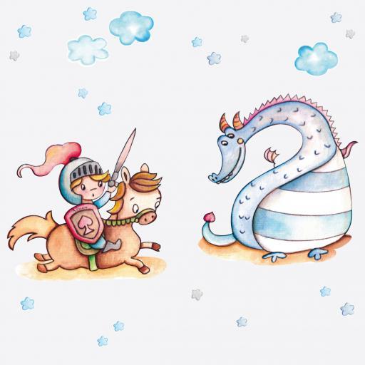 VINILO INFANTIL: Caballero Dragon [1]