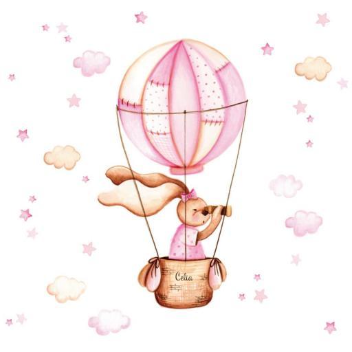 VINILO INFANTIL: Conejita en globo [1]