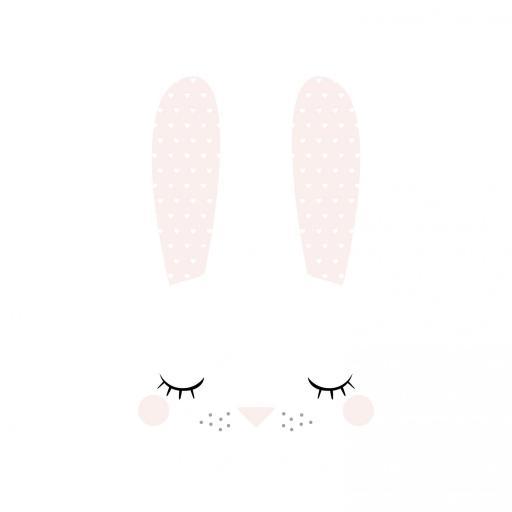 VINILO INFANTIL: Conejita con pestañas [1]