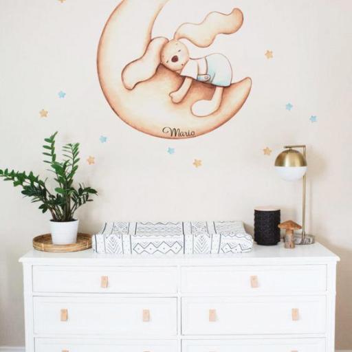 VINILO INFANTIL: Conejo en luna [1]