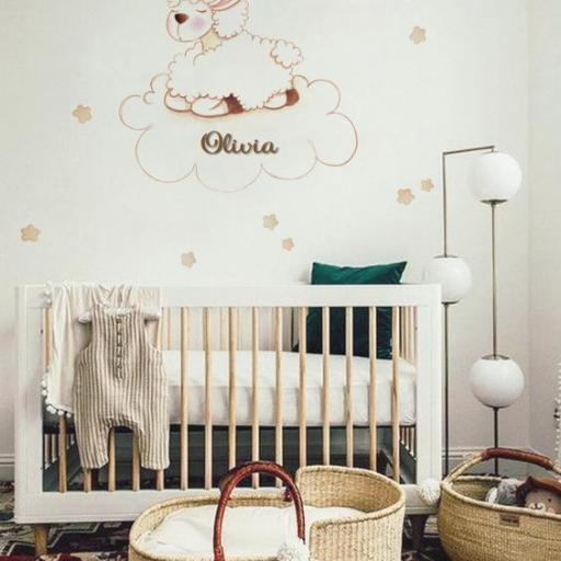 VINILO INFANTIL: Oveja en nube [1]
