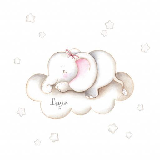 VINILO INFANTIL: Elefante en nube [1]