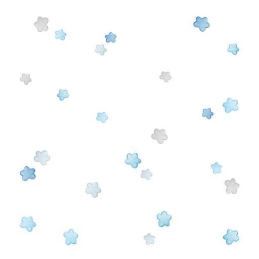 VINILO INFANTIL: Estrellas Azules y Grises [1]