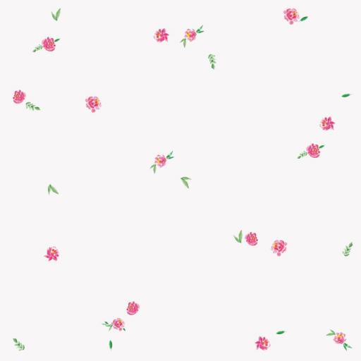 VINILO INFANTIL: Flores y hojas [3]