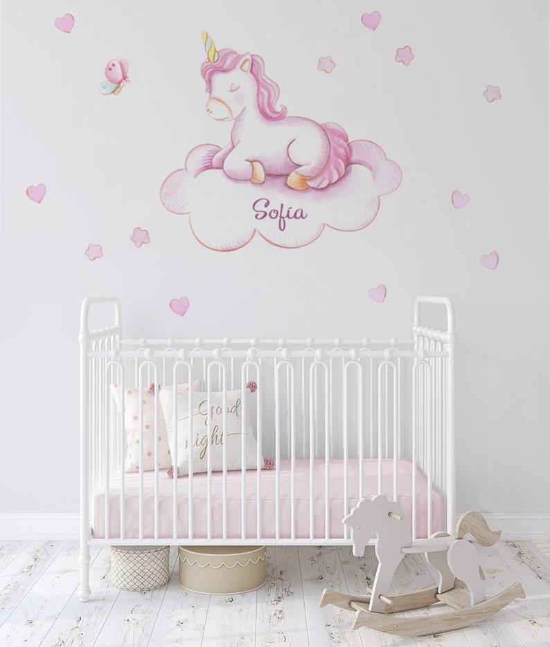 VINILO INFANTIL: Unicornio en nube