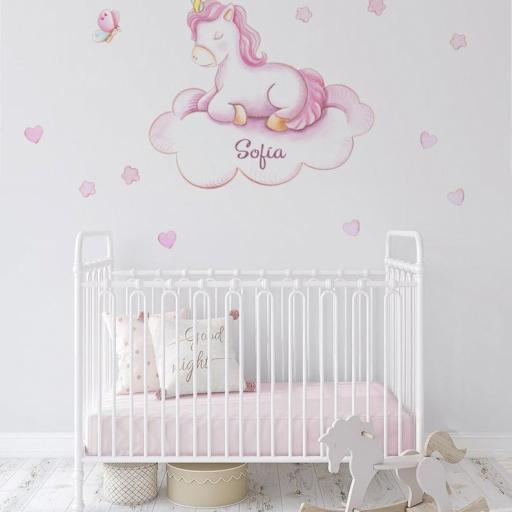 VINILO INFANTIL: Unicornio en nube [0]