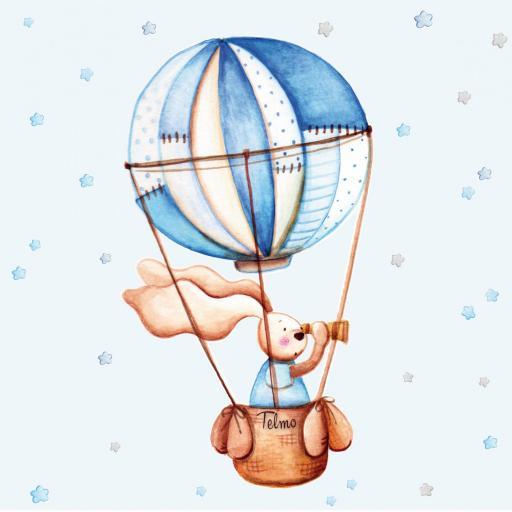 VINILO INFANTIL: Conejito en globo [2]