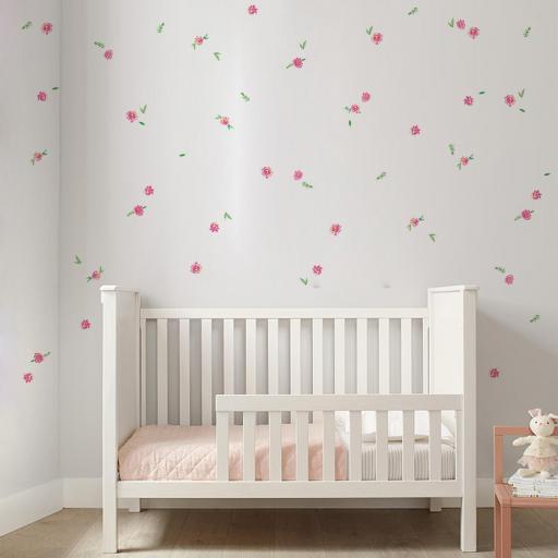 VINILO INFANTIL: Flores y hojas [1]