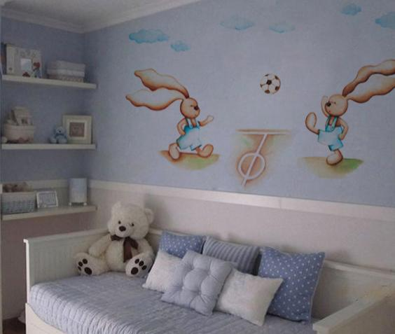 VINILO INFANTIL: Conejitos futbol