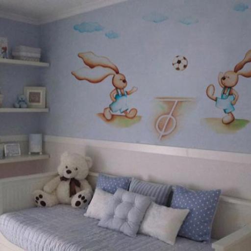 VINILO INFANTIL: Conejitos futbol [0]