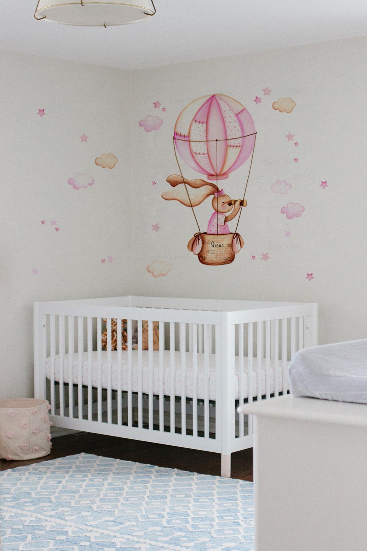 VINILO INFANTIL: Conejita en globo
