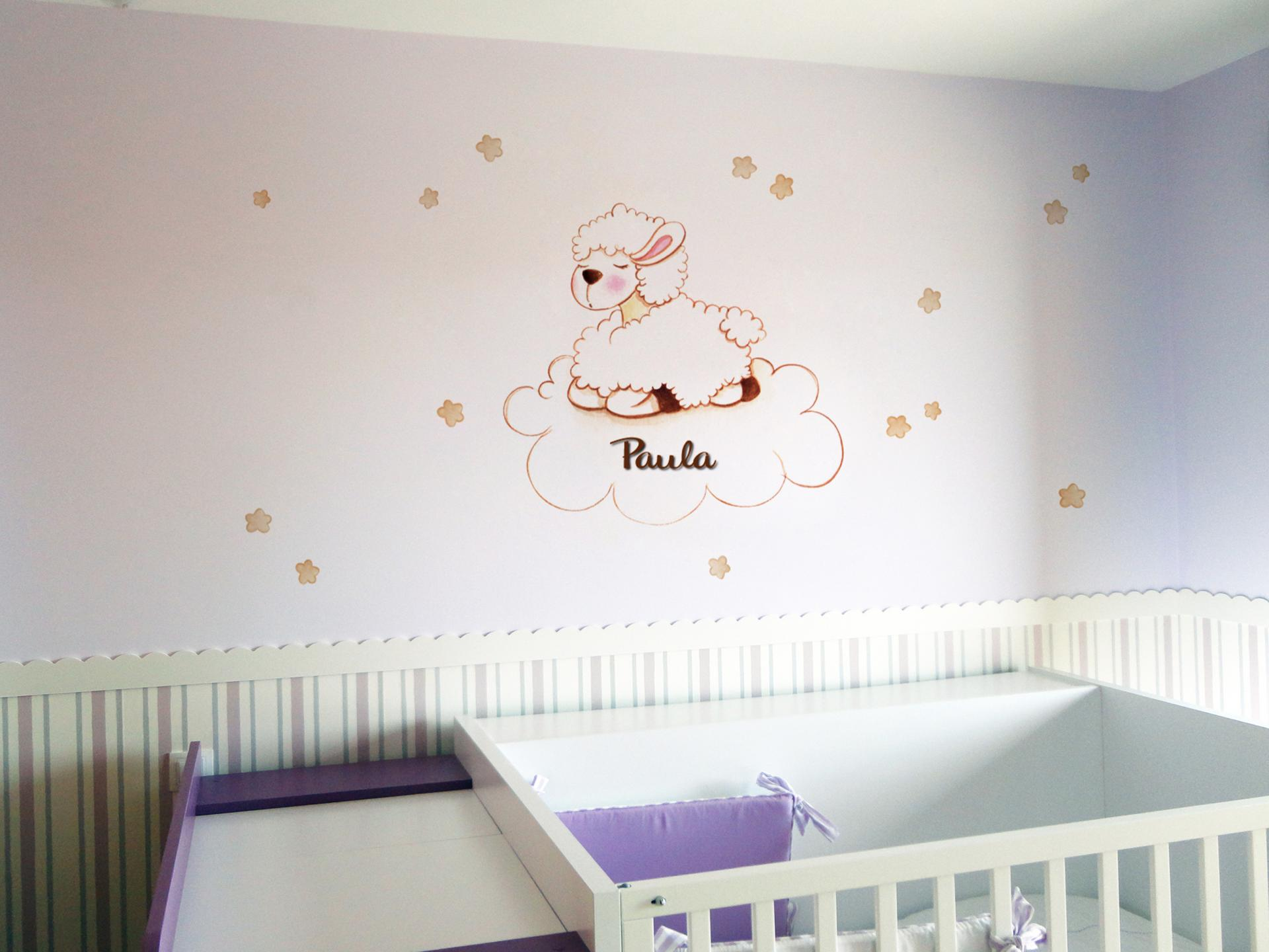 VINILO INFANTIL: Oveja en nube