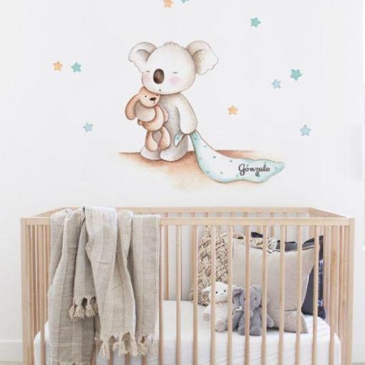 VINILO INFANTIL: Koala con mantita [2]