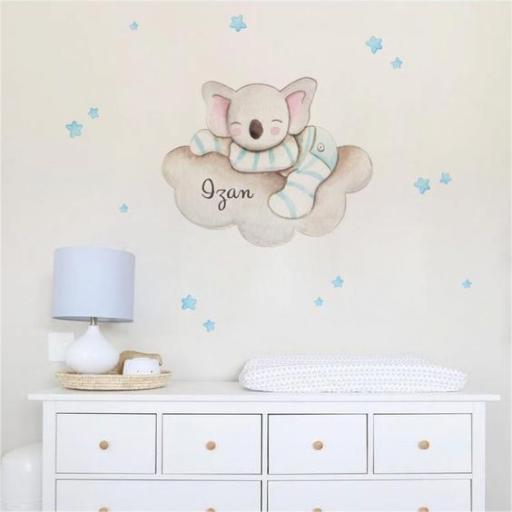 VINILO INFANTIL: Koala dormido en nube [0]