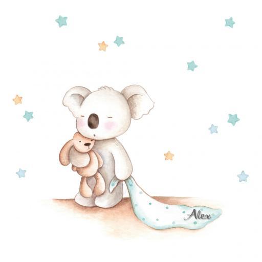 VINILO INFANTIL: Koala con mantita [3]
