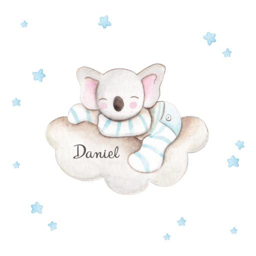 VINILO INFANTIL: Koala dormido en nube [3]