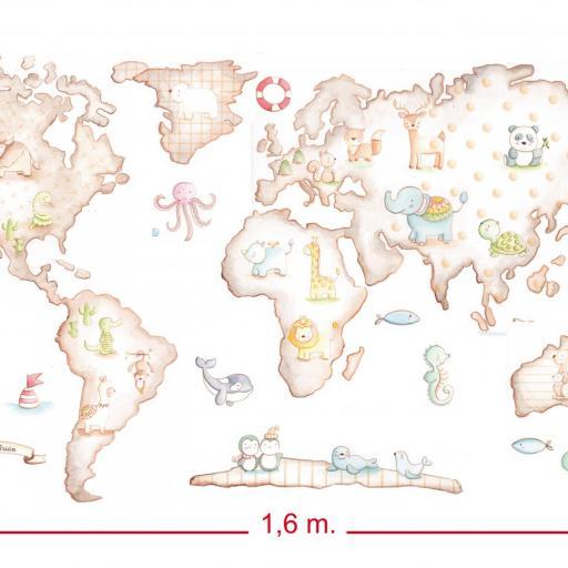 VINILO INFANTIL: Mapamundi [2]
