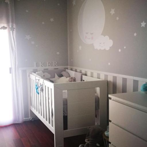 VINILO INFANTIL: Luna con nube y estrellitas [0]