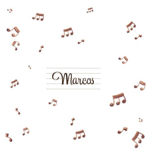 VINILO INFANTIL: Notas musicales con Nombre [1]