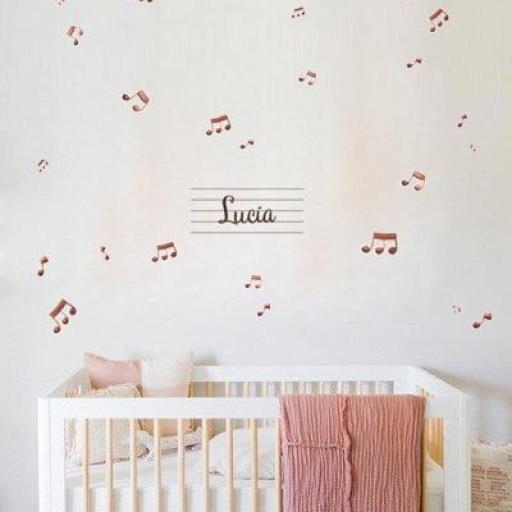 VINILO INFANTIL: Notas musicales con Nombre