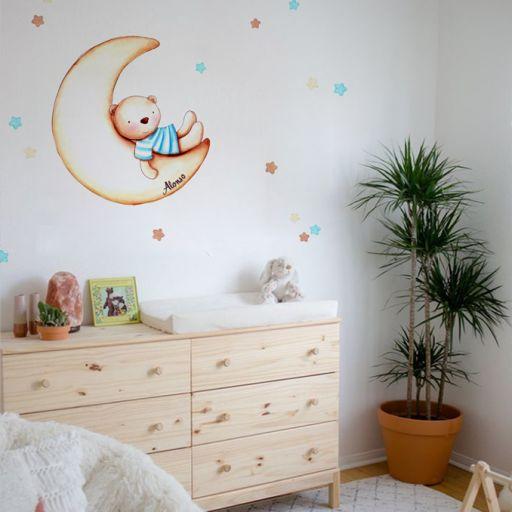 VINILO INFANTIL: Osito en Luna [1]