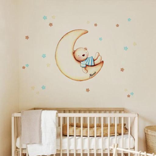 VINILO INFANTIL: Osito en Luna [0]