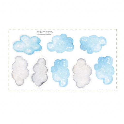 VINILO INFANTIL: Nubes azules y grises [1]