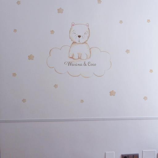 VINILO INFANTIL: Perrito en nube [1]