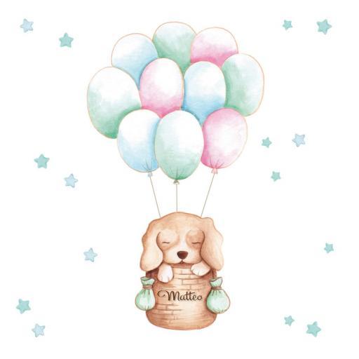 VINILO INFANTIL: Perrito en globo [1]
