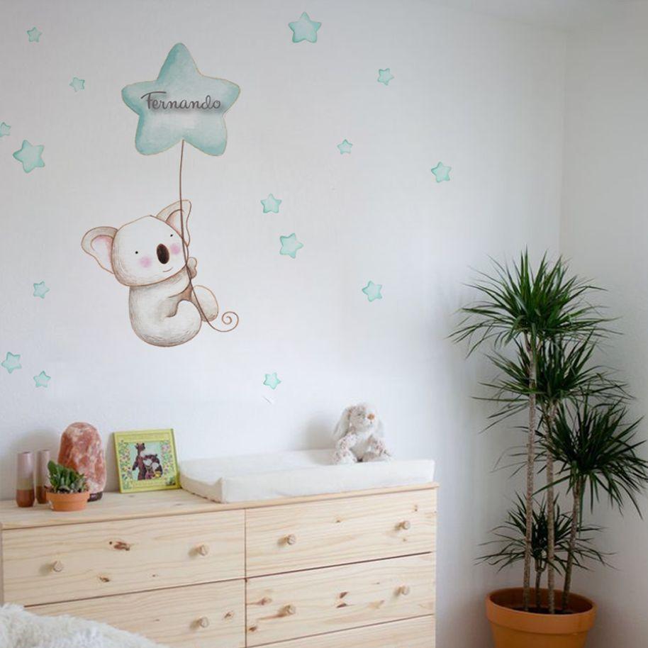 VINILO INFANTIL: Koala con globo mint