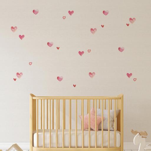 VINILO INFANTIL: corazones de acuarela [1]