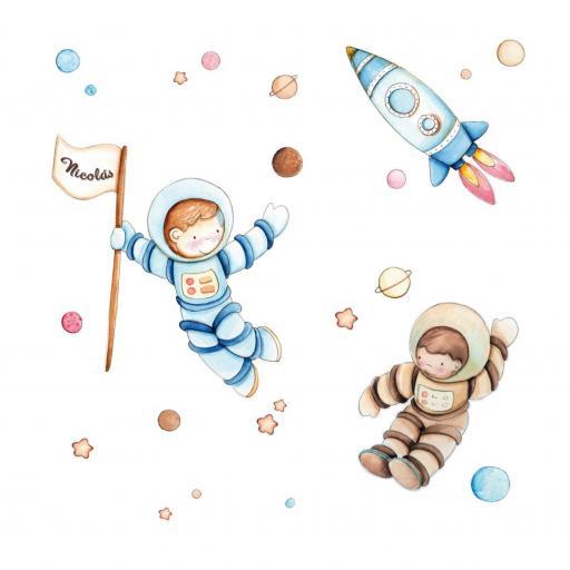 VINILO INFANTIL: Astronautas [1]