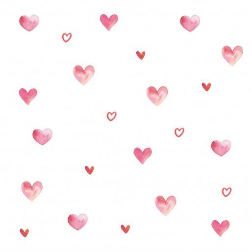 VINILO INFANTIL: corazones de acuarela [2]