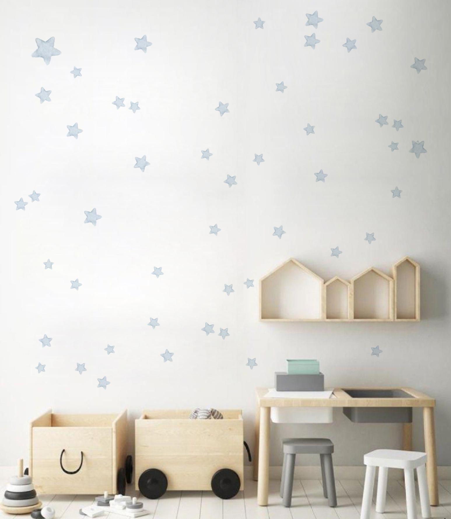 VINILO INFANTIL: Estrellas grises